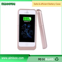 Made in China Ultra slim Extended power bank case Power Pack Backup 2200mah Battery Case For iphone 5 5s 5c