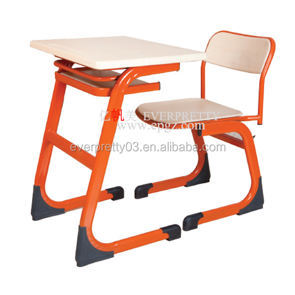 Factory price school furniture single desk and chair study table for student