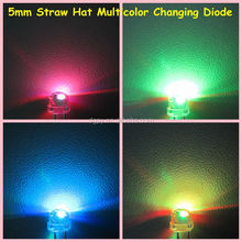 4.8mm/5mm straw hat led <strong>RGB</strong> Multicolor Changing Diode ( CE &amp; RoHS Compliant )