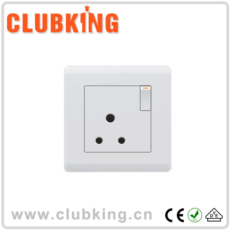 Best Selling Products UK Standard Electric 15 amp switched socket 15A 250V 1 gang switched socket