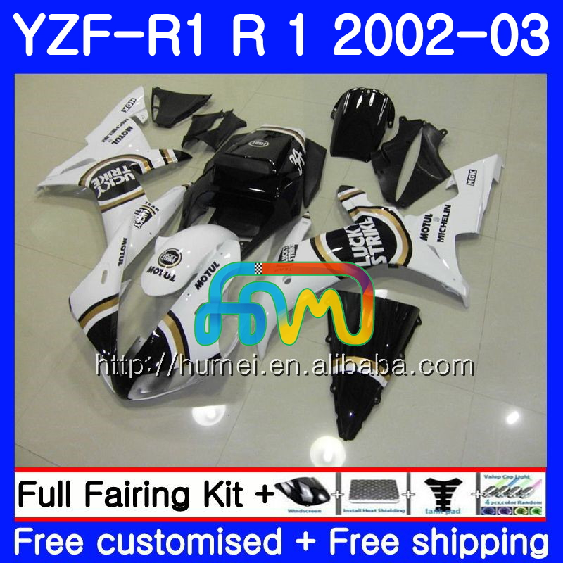 Body For YAMAHA YZF Lucky Strike 1000 YZFR1 <strong>02</strong> <strong>03</strong> YZF-1000 Bodywork 99HM19 YZF R 1 YZF <strong>R1</strong> <strong>02</strong> <strong>03</strong> YZF1000 YZF-<strong>R1</strong> 2002 2003 <strong>Fairing</strong>