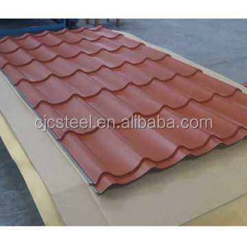 Low cost 2015 high quality colored corrugated metal roof tile