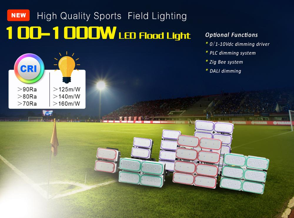 800W 170lm/W Floodlight stadium light LED