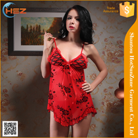 HSZ-613# Wholesale fashion design women cheap underwear high quality women sexy nighty models newest style women sexy nighty