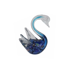 Murano glass swan, hand-made glass animal figurine
