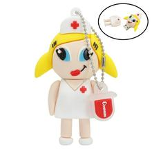 nurse usb flash drive 4gb pendrive usb2.0 32GB memory stick