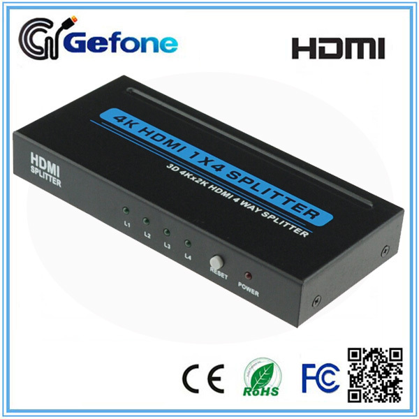 Hot-selling HDMI Splitter 1x2 1x4 1x8 V1.4 Supporting 3D Full HD 4K*2K