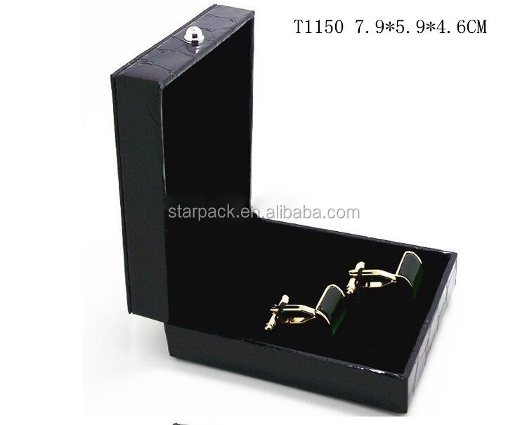 T1150 Fashion Jewlery Leather Cuff Box Wholesale Cufflink Box