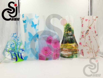 2017 plastic foldable flower vase,accept custom design