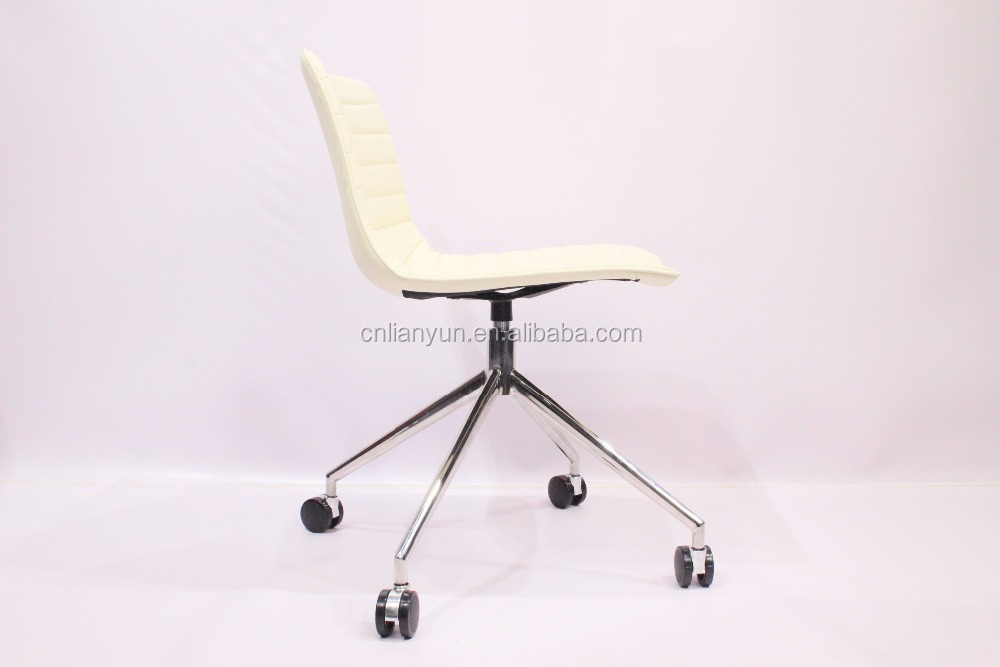 Full white aniline leather fancy living room swing chairs