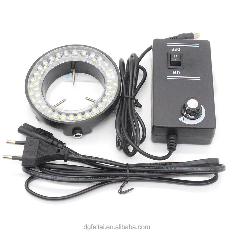 220V/110V 8W Black LED Microscope Ring Light