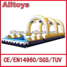 Cheap linear inflatable slide way