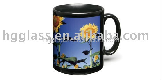 black color sublimation mug,11oz standard, 11oz sublimation black color mug with white patch . sublimation black mug ,