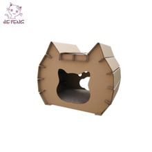 Customized Colour Multifunctional Cardboard Cat Houses For Indoor Or Outdoor Cats