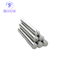 Solid tungsten carbide round rods for metal machining