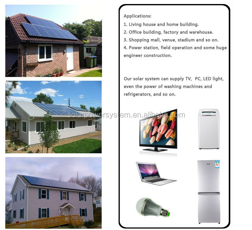 BESTSUN 6000W Photovoltaic Portable Compact 6KW Home Solar Power System