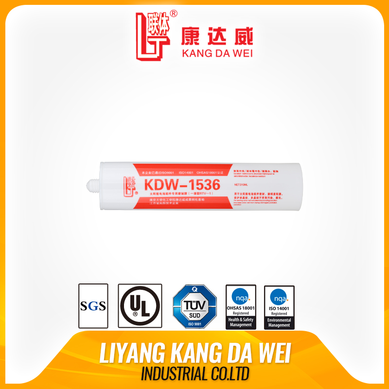 RTV aging resistance Liyang Kangdawei silicone rubber adhesive and sealant for Solar Panel Modules high temperature resistance