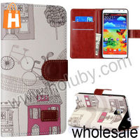 Wallet Style Flip Stand Hard PC+Leather Case for Samsung Galaxy Note 3 N9000 N9002 N9005