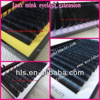 OEM/ODM 0.05/0.07/0.10/0.12/0.15/0.18/0.20/0.25/0.30mm Faux mink eyelash extension