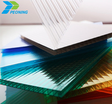 thin flexible clear plastic pc honeycomb roofing sheets
