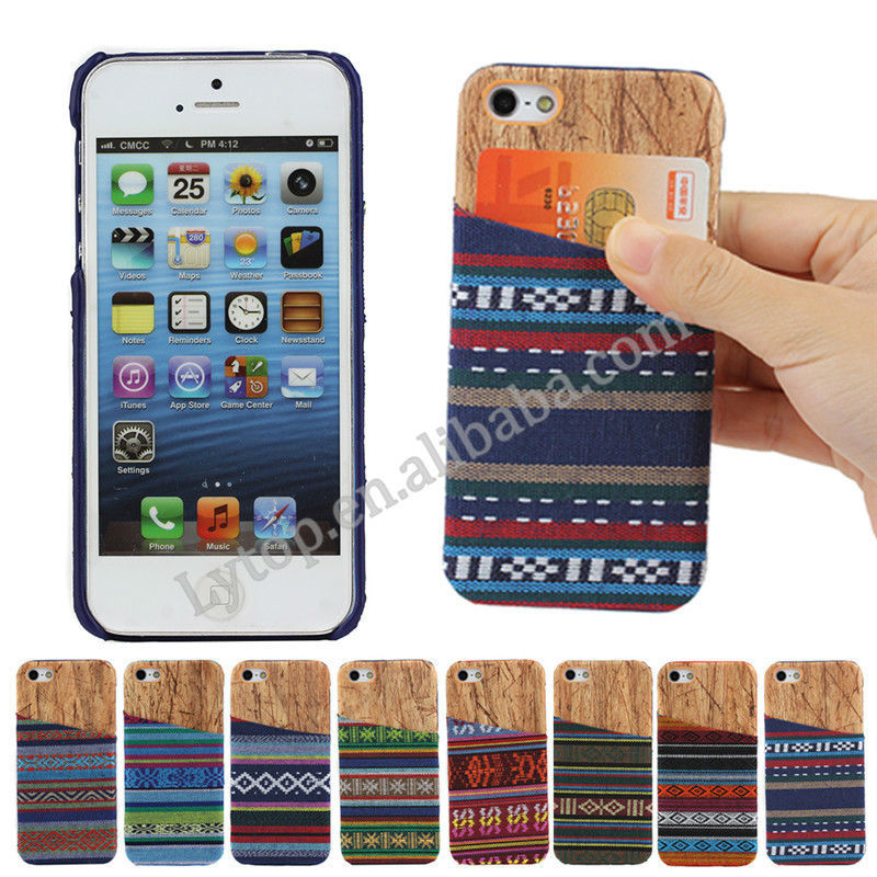 Fast Delivery and Low MOQ Hard Case for iPhone 5/5s with Card Slot Backside