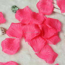hot sale various colors artificial loose fabric rose petal for wedding ceremony decor