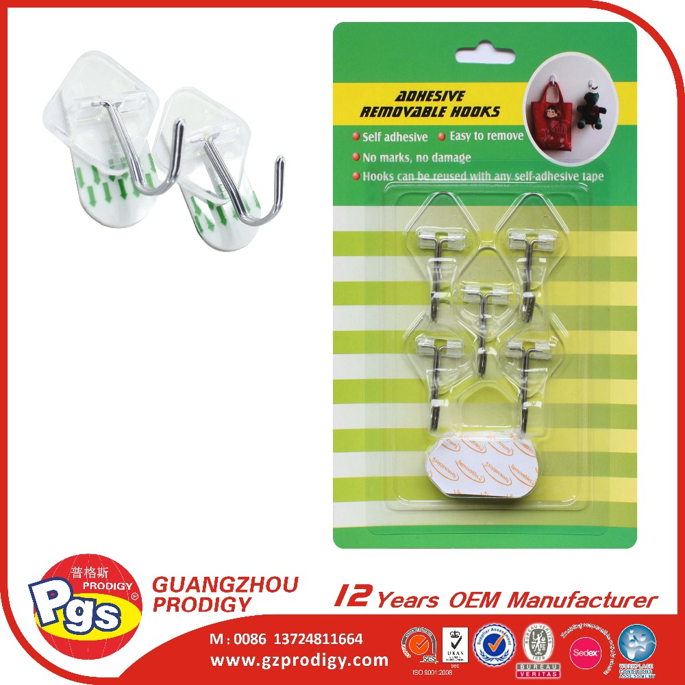 Transparent small door hooks hangers