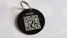 custom QR code metal dog pet id tag