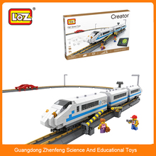 LOZ diamond block City Series China Railway High-speed Building Block Sets for Girls Educational Bricks Toy