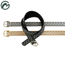 FM brand Hot selling top quality lady fashion belt pu leather ending formal ladies belt