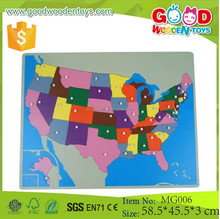 Map Puzzles Assembling Toys NEW USA Puzzle Map Promotional Wooden Toys