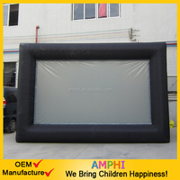 Outdoor inflatable screen for advertising
