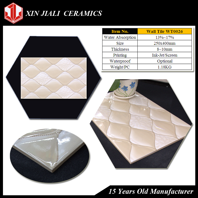 Ceramic tile sizes and shapes