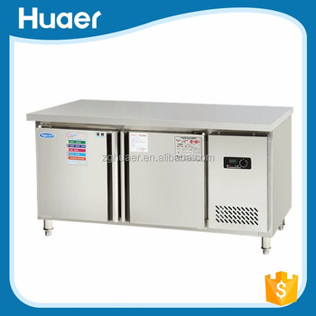 Hot sale Hotel and restaurant kitchen bench top refrigerator worktop refrigerator with drawers