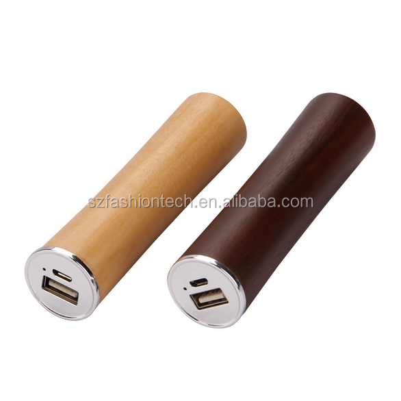 wooden power bank 2600mah, mobile power supply, portable usb battery