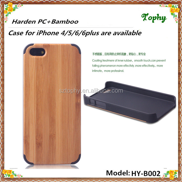 2016 Hard Plastic case for iphone 5s iPhone 6 case, for iphone case wholesale, for iphone 6 case pc+real bamboo wood wholesales