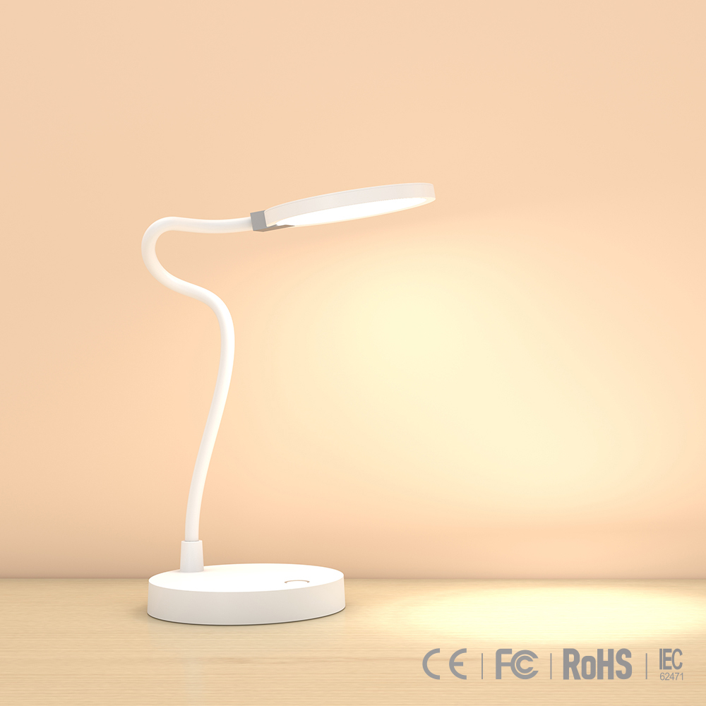 Modern style eye protective lamp wireless desk lamp stepless dimming minimalism light LED energy saving lamp with two USB port