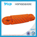 Bright orange braided 8mm polypropylene rope for tent