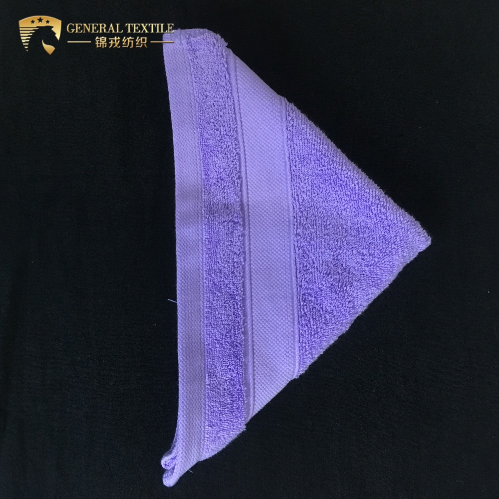 100% <strong>Cotton</strong> 16S/1 Color Dyed Dobby Border 5 Stars Hotel Face Towel
