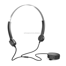 New Technology Wired Bone conduction hearing aids headphone headband style Sound Enhancer Amplifying headset