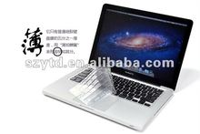 Ultra Thin laptop protect film keyboard cover for 15.6""