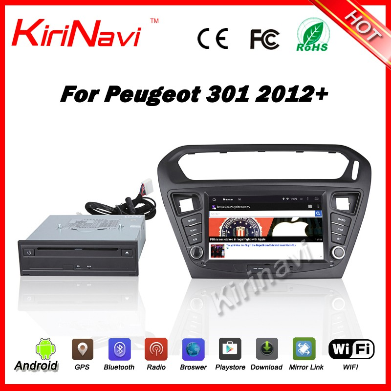 Kirinavi WC-PT8015 Android 5.1 car navigation system car DVD for peugeot 301 2012+ car stereo WiFi 3G Bluetooth