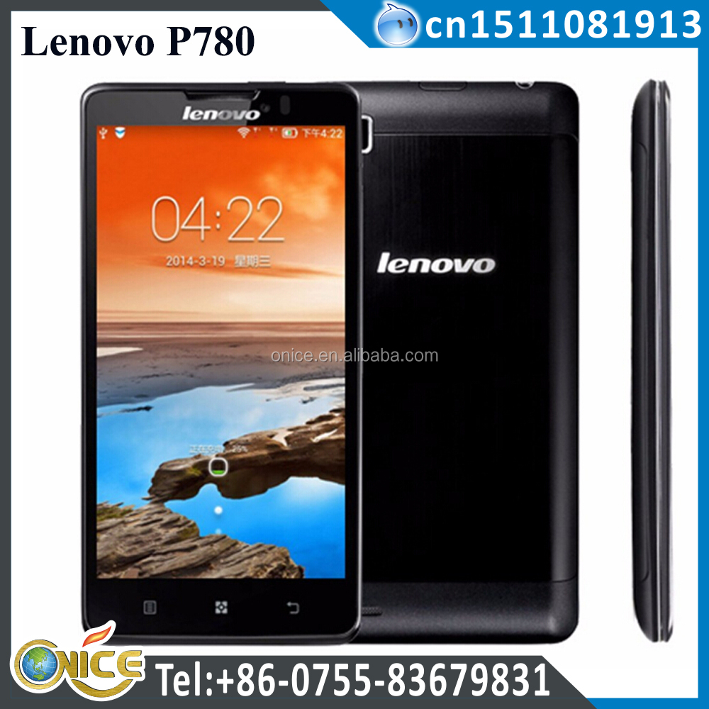 cheaper 5 inch Lenovo P780 mobile phone MTK6589 Quad Core 1gb ram 4gb rom phone WCDMA mobile phone dual sim 4000 mah