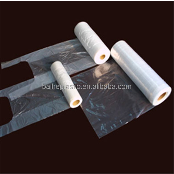 HDPE/LDPE clear packaging plastic bags on roll for food