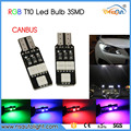 T10 5050 6SMD RGB W5W 192 168 led width lamp wedge warning light bulb
