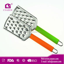 US006S 2014 new item hot sale good quality kitchen colourful stainless steel with PP handle manual food vegetable peeler grater