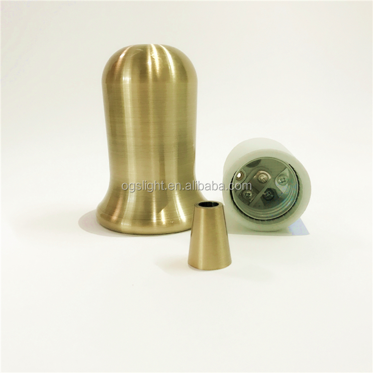 Vintage antique indoor decor brushed brass color light holder/ lamp socket for Edison bulb