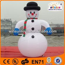 high quality lovely plush inflatable snowman