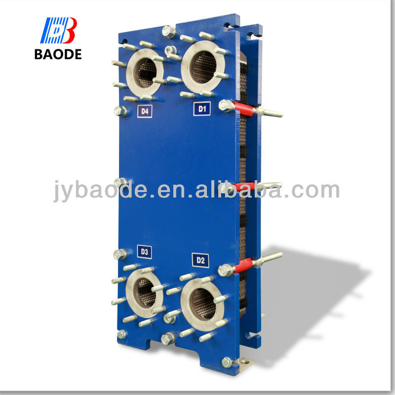 Alfa Laval M6 replacement Gasket type Counter flow plate heat exchanger 300KW - 800 kW 16 kg/s (250gm) BH60 series
