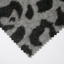 Wool leopard print fabric for coat plush with